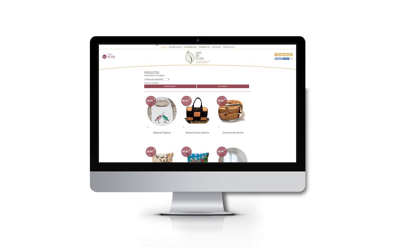 Diseño y creación de tienda-online Hilo de plata